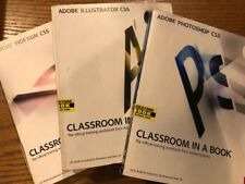 Adobe Photoshop, Illustrator, and indesign CS5 book set