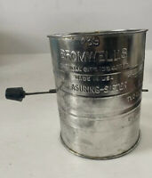 Vintage Bromwell's 3 Cup Flour Measuring Sifter Handle Made In USA
