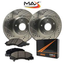 2003-2005 Dodge Neon SRT4 KT051681 Fits: 2003-2009 Chrysler PT Cruiser Turbo Max Brakes Front Elite Brake Kit E-Coated Slotted Drilled Rotors + Ceramic Pads