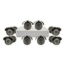 "LineMak 8 Camera kit, 1/3"" Sony CCD Sensor, 700TVL with 8Ch DVR H.264, D1/CIF."