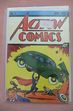 7.5 VF- VERY FINE ACTION COMICS # 1 FLIP COVER GERMAN EURO VARIANT RRP SDCC WP