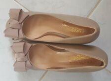 Salvatore Ferragamo women 38 wedge nude shoes
