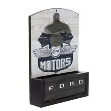 Wall Mounted Bottle Opener with Bottle Catch Cap Box Shop Ford Motors