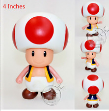 Super Mario Brothers TOAD PVC 4 Inch Action Figure USA Seller