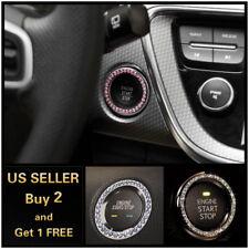 Engine Start Push Button Key Ring Trim Carbon Fiber For BMW 3/5 Series E90 92 93