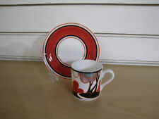 More details for clarice cliff wedgwood cup and saucer ' autumn '