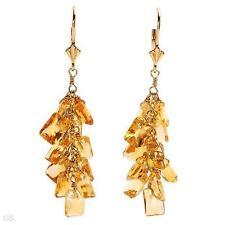 FPJ 14K SOLID GOLD 13.20 CTW CITRINE GRAPE STYLE EARRINGS