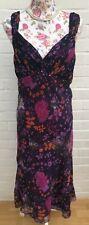 New Berkertex Dress Size 18 Purple Floral Wedding Races Occasion Beaded Gatsby