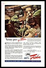 1944 WWII M4 SHERMAN TANK Interior Driver at controls Body by Fisher Vintage AD