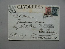 ITALY, censored cover to the Netherlands 1915 (1)