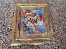 RA SUPERSTAR Venice Beach Painted frame, print signed 2003 Heart of Gold Collage