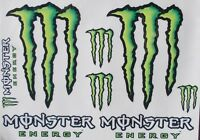 KIT 9 ADESIVI MOSTER ENERGY GRAFFIO STICKERS DECALCOMANIA ADESIVO 13 X 16