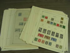 PERU, NIGERIA, TONGA,  Accumulation of 100s of Stamps hinged on remainder pages