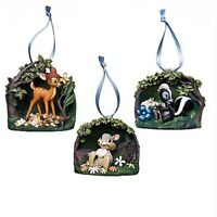 BAMBI 75TH ANNIVERSARY ORNAMENT SET LIMITED EDITION Thumper Flower Gift