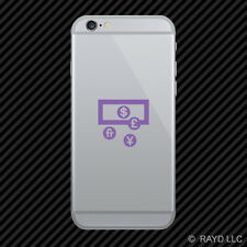 (2x) Currency Cell Phone Sticker Mobile icon symbol 1 many colors