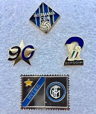 Calcio-Inter set di 3 Spille/distintivi + francobollo laminato- varie annate-pin