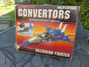 Retro 1980s Grandstand Convertors Deltarian fighter boxed transformers set