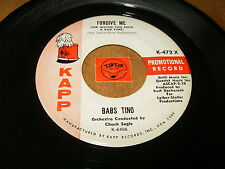BABS TINO - FORGIVE ME - IF I DIDN'T LOVE YOU SO MUCH - LISTEN - GIRL POPCORN