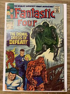 Fantastic Four #58/Silver Age Marvel Comic Book/Dr. Doom & Silver Surfer/VG-