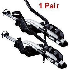 2x Thule 591 ProRide Roof Mount Cycle Bike Racks T Track Genuine  KE73880010 BN