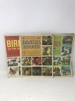 VTG 1950's LOT of 3 GOLDEN PLAY/Classic Stamp BOOKS~ Animals, Birds,Daniel Boon