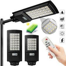 300W/500W LED Solar Street Lights PIR Motion Sensor Waterproof w/Remote Control