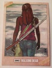 2017 Topps AMC The Walking Dead Michonne 1/1 Sketch Card by Veronica O'Connell