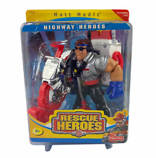 Fisher Price 2000 Rescue Heroes Highway Heroes Matt Medic New Unopened