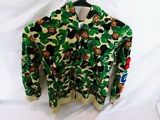 Bape Baby Hoodie Size 130 green Camo