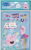 PEPPA PIG GEORGE PLAY PACK A4 COLOURING BOOK & A5 PAD WITH COLOUR PENCILS PEPPK3