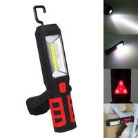 COB LED Work Light USB Rechargeable Lamp Portable Flashlight Torch with Hook