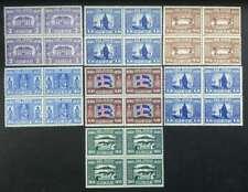 Iceland Lot Parliament 1930 Blocks of 4 Mint