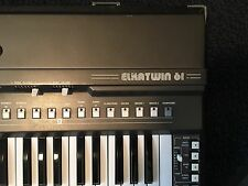 ELKA ELKATWIN 61 vintage orgel organ keyboard synthesizer transistor rare combo!