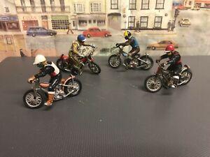 Britains Speedway riders die cast models  set of four