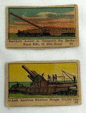 Vintage Army Artillery Gun Miniature Cards