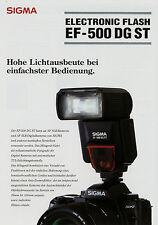 Prospetto 1 fogli SIGMA ef-500 DG ST Electronic Flash 3/04 2004 brochure broschyr