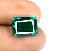 8-9 Ct Zambian Green Emerald Loose Gemstone Emerald Cut Natural AGSL Certified