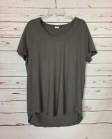 Poetry Women's 14 Gray Hemp & Cotton Short Sleeve Lagenlook Spring Top Blouse