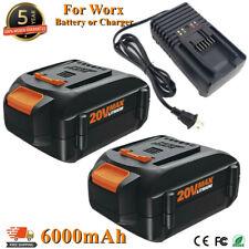 for Worx 20 Volt 6.0Ah li-Ion Battery Wa3520 Wa3525 Wg151s Wa3575 or 20V Charger