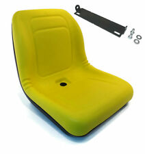 New Yellow HIGH BACK SEAT w/ Pivot Rod Bracket for John Deere 655 755 756 855
