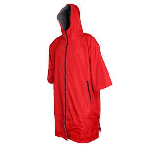Windbreaker Outdoor Long Jacket Anorak Soft Beach Swimming Gym Changing Robe