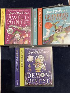 DAVID WALLIAMS AUDIO CD BOOKS X3 BUNDLE EXCELLENT CONDITION