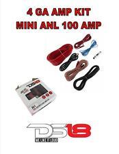 4 Ga Gauge Amp Kit Amplifier Install Wiring Complete Mini ANL 100 Amp DS18 AK4