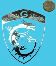 MSI GAMING G SERIES METALLIC CHROME EFFECT STICKER LOGO AUFKLEBER 76x93mm [843]