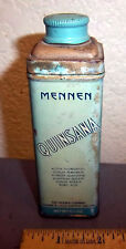 vintage Mennen Quinsana foot powder tin, great graphics & color, partially full