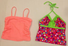 Girls TWO Tops Size 10/12  L Girls Tankini Swim Top - Old Navy & Big Chill