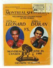 Leonard vs Duran 1980 Brawl in Montreal Olympic Stadium program and ticket
