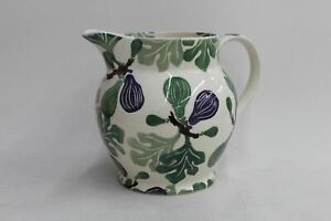 EMMA BRIDGEWATER Stoke-On-Trent White Glazed Porcelain Floral Figs 6pt Jug NEW