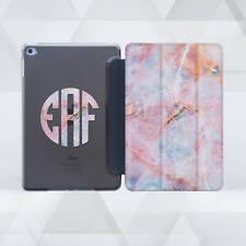 Pink Marble iPad Pro 9.7 10.5 12.9 Smart Cover Initials iPad 2 3 4 Mini Air 2