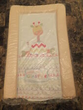 """BABY PADDED CHANGING MAT """"PATCH THE GIRAFFE"""" WITH  soft raised edges"""